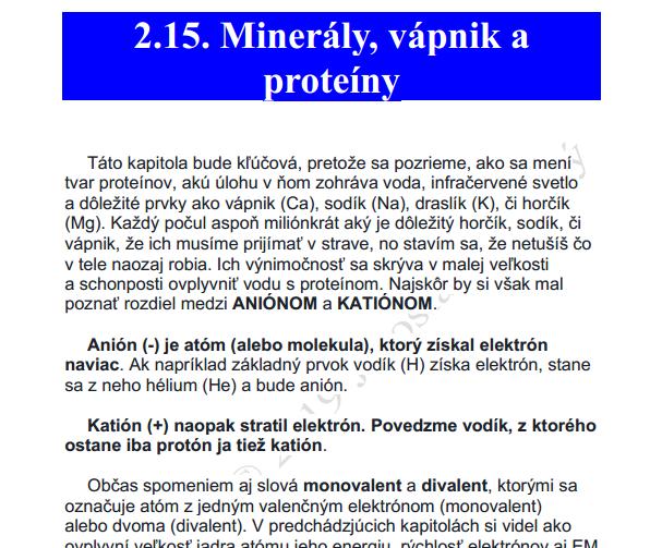 Jaroslav Lachký vápnik, minerály, kniha, kvantová biológia, DHA