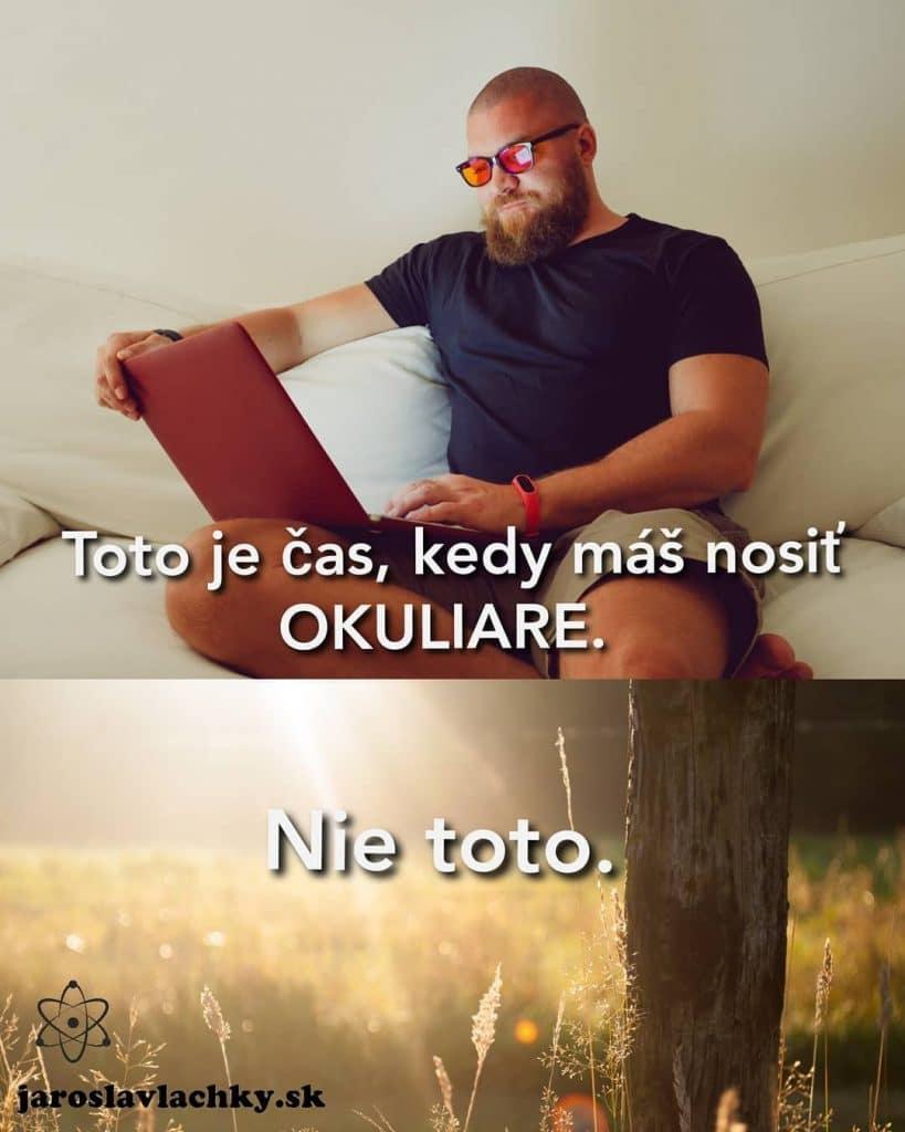 Jaroslav Lachký, blokácia modré svetlo, okuliare
